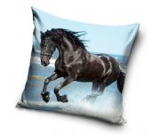 Dekorační polštářek Kůň Černý Mustang