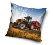 Dětský polštářek Traktor s červenou vlečkou