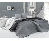 Přehoz na postel Eifel Šedý 220x240 + 2x 40x40 cm