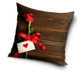 Dekorační polštářek Růže pro Tebe