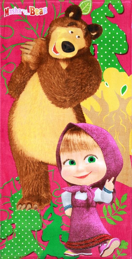 Dětská osuška Máša a Medvěd Růžová