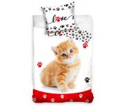 Bavlněné povlečení Zamilovaná Kočička