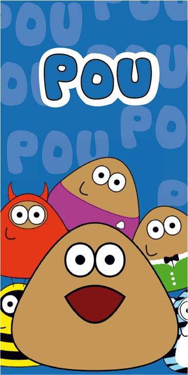 Dětská osuška Pou - Modrá