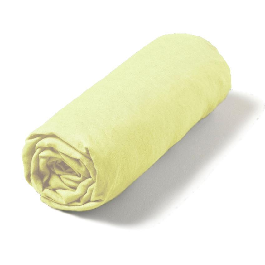 Bavlněné prostěradlo světle žluté