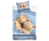 Bavlněné povlečení Koťátka v peřince