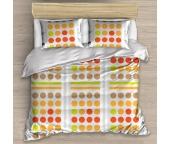 Bavlněné povlečení Domino Oranžové