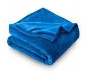 Deka mikroplyš 150x200 cm Modrá
