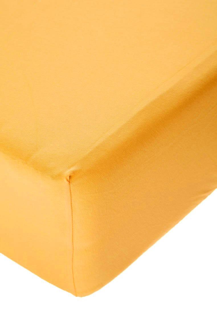 Jersey prostěradlo s elastanem sytě žluté