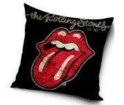 Dekorační polštář Rolling Stones Black 45x45 cm